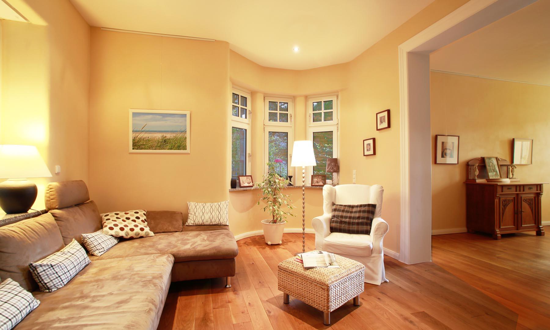 Wohnzimmer Mit Wandheizung Und Lehmputz